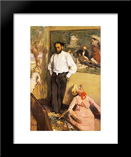 Portrait of Henri Michel-Levy in his studio 20x24 Framed Art Print by Edgar Degas