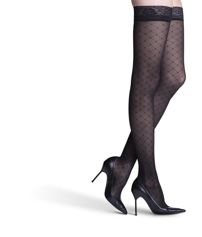 SIGVARIS Women's Allure 710 Thigh-High 20-30mmHgWomen's Closed ToeThigh w/Grip-Top