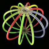 """200 8"""" glow stick bracelets,mixed colors,200bracelet necklace connectors,5 pairs of glow glasses connectors,1 glow ball/flower kit,5 hair clip barrettes"""