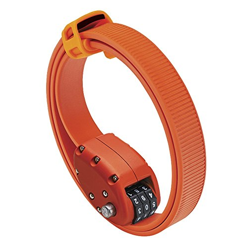 OTTOLOCK Steel & Kevlar Combination Bike Lock | Lightweight, Compact, Durable Design | Ideal for Cycling & Outdoor Gear (OTTO Orange, 30 inch) ()