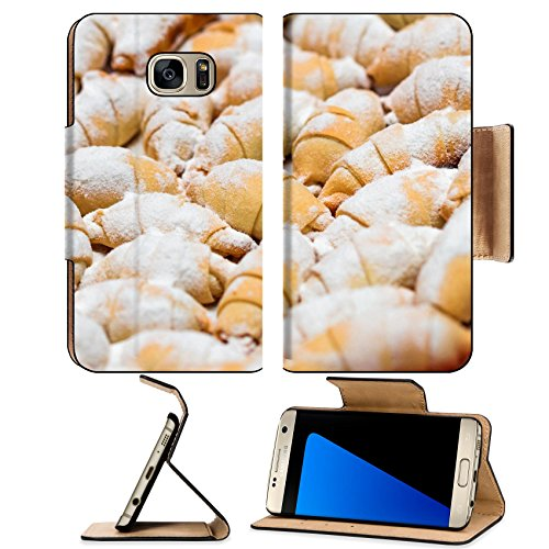 India Pastries (Luxlady Premium Samsung Galaxy S7 EDGE Flip Pu Leather Wallet Case IMAGE ID: 40601309 Pretty homemade pastries for friends and tea time)