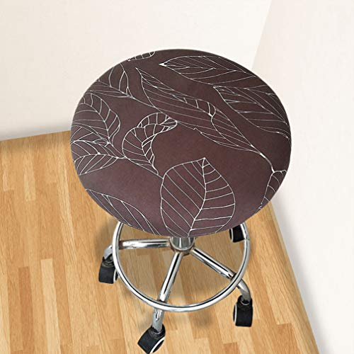 - WEEFORT Round Bar Stool Chair Cover Floral Printed Elastic Polyester Slipcover Waterproof Washable Seat Case for Home Decor