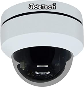 SecurityHD 1080P PTZ Outdoor POE Security IP Dome Camera with 4X Optical Zoom Pan