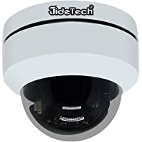 HD 1080P PTZ Outdoor POE Security IP Dome Camera with 3X Optical Zoom Pan/Tilt/3X Motorized Zoom, Dome Style for Celling Installation