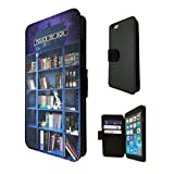 454 - Doctor Who Tardis Call Box Book Shelves Library Design Fashion Trend TPU Leather Flip Case For Apple iPhone 5C Full Case Flip TPU Leather Purse Pouch Defender Stand Cover