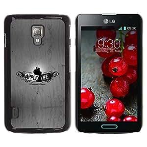 Be Good Phone Accessory // Dura Cáscara cubierta Protectora Caso Carcasa Funda de Protección para LG Optimus L7 II P710 / L7X P714 // Funny Apple Life