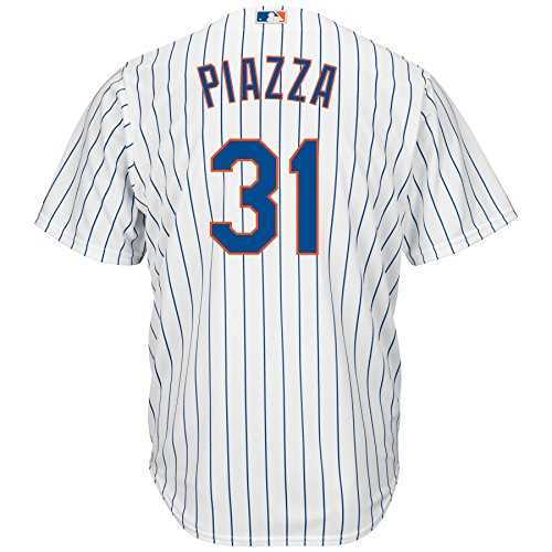 Outerstuff Mike Piazza New York Mets #31 Youth Cool Base Home Jersey (Youth Large 14/16)