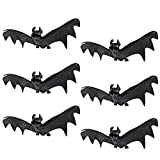 JOYIN Set of 6 Realistic Looking Spooky Hanging Bats for Best Halloween (Small Image)