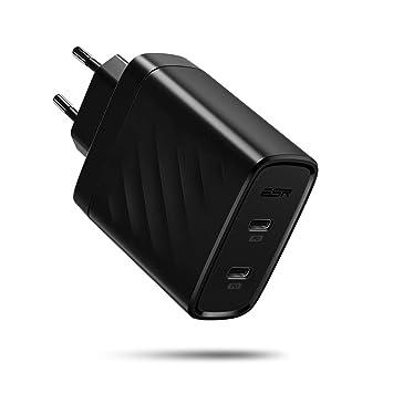 ESR 36W USB C Cargador 2-Puerto with PD 3.0, Carga Rápida Tipo C para iPhone 11/11 Pro MAX/X/XS/XR/8 Plus/8, Samsung S10/S10+/ S10e/Note 10/Note 10 ...