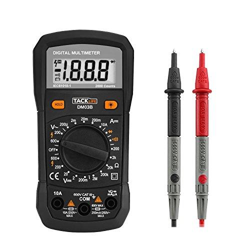 Digital Multimeter Continuity : Tacklife dm b classic digital multimeter counts