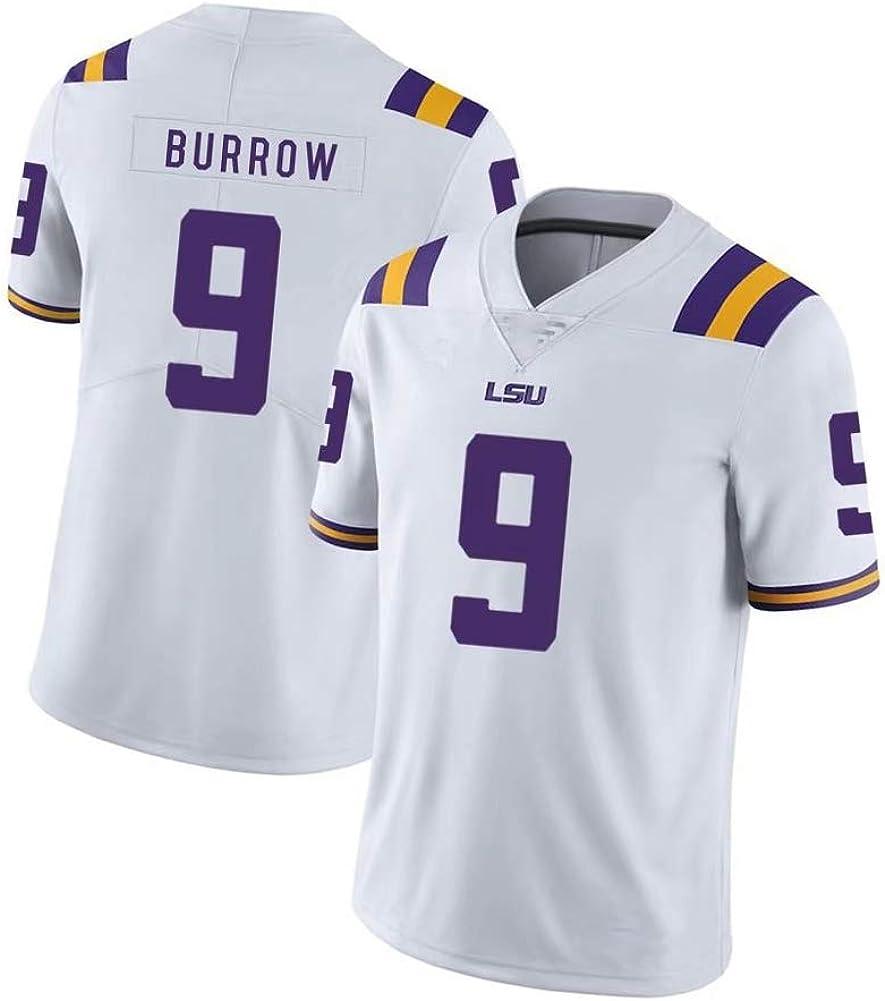 Joe Burrow LSU Rugby-Trikot f/ür Herren 2020 Draft Champion Jersey Name und Nummer T-Shirt Gr/ö/ße S-3XL LSU The University 9# Herren American Football Jersey