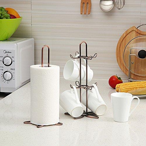 Mug rack tree,Vintage copper tissue rack coffee mug rack set