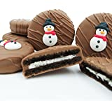 Philadelphia Candies Milk Chocolate Covered OREO Cookies, Winter Snowman 8 Ounce