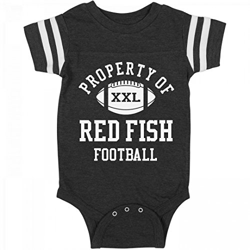 Property Of Red Fish Football  Infant Rabbit Skins Football Bodysuit