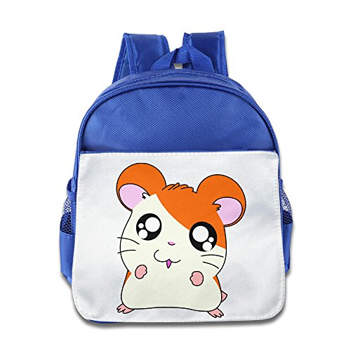 Child Backpack Satchel School Book Bag, Cute Smiley Mouse - RoyalBlue (Hurley Canvas Backpack)