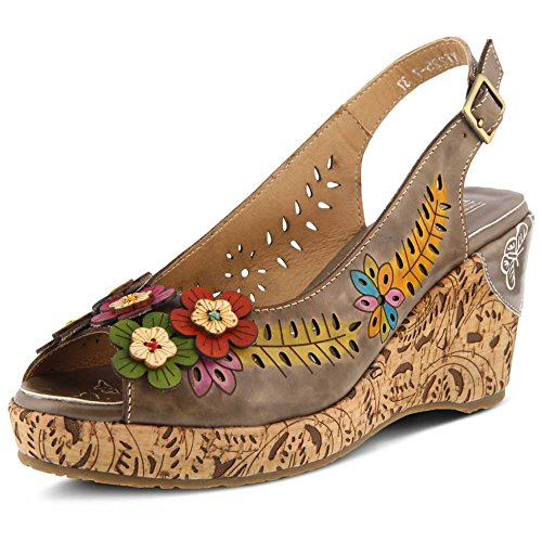 Leather TUTTIFRUTTI L`Artiste Sandal Taupe Womens qwXYHIv