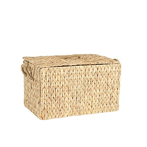 Household Essentials ML- 6610 Large Wicker Storage Box with Lid - 12.2