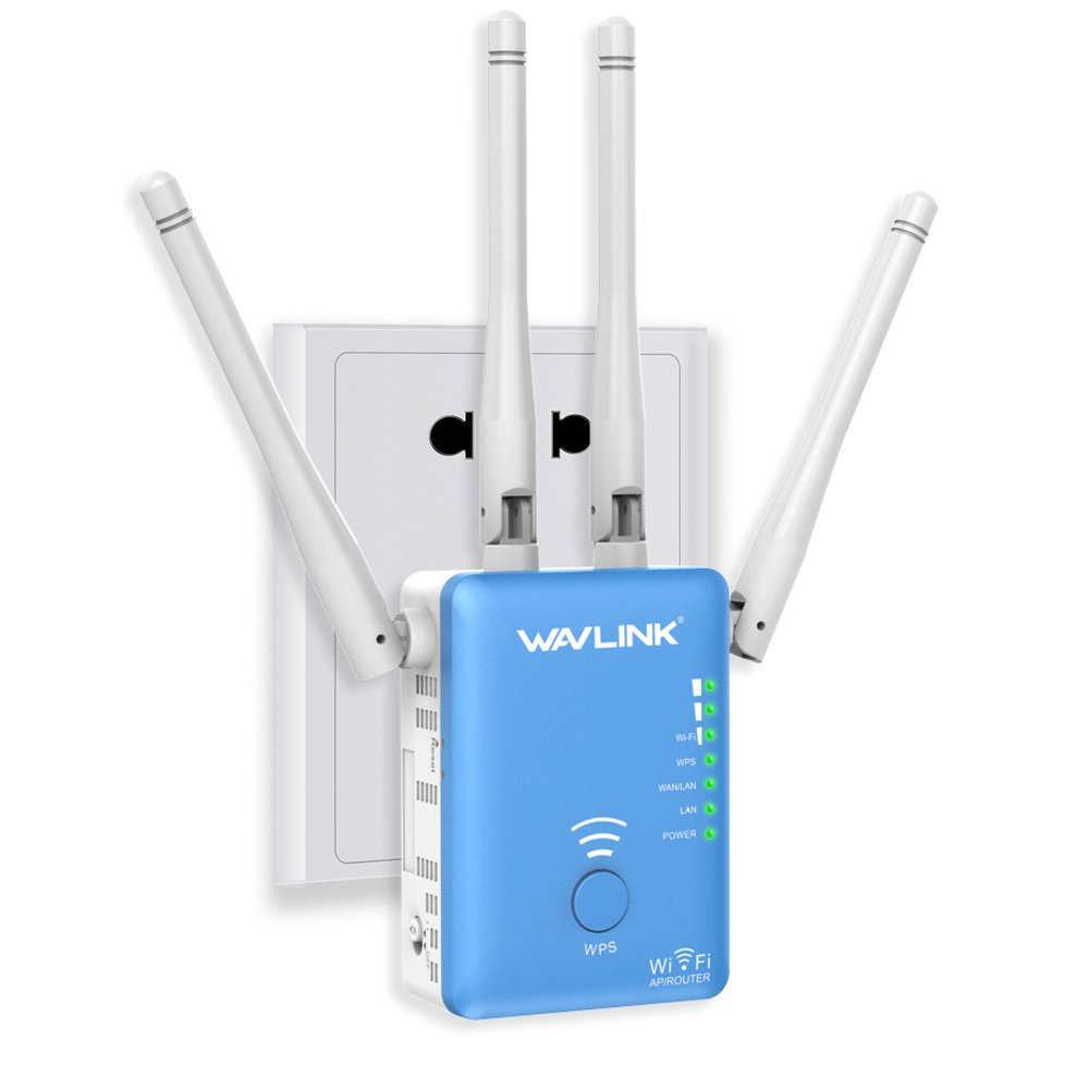 AC1200 Dual Band WiFi Range Extender - Wavlink Wireless Repeater Signal Booster/Access Point/Router with 2 Ethernet Port/External Antenna-Updated Version