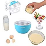 SunSir Mini (0.6 Quart/ 0.6L) Automatic Ice Cream Maker, Frozen Fruits Sorbet Maker, Ice Cream Machine for Kids With User Manual & Ice Cream Recipes- Own Healthy Ingredients
