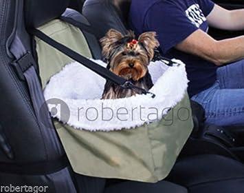 Transportín Asiento Caseta para coche puerta perro perros gato animales cesta Cinturón: Amazon.es: Productos para mascotas