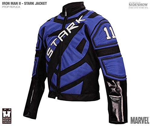 - Iron Man Movie Tony Stark Racing Jacket Blue/Black Museum Replicas Mens S/M