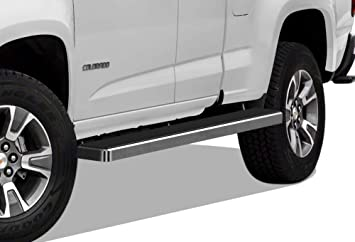 TAC 4.25 Side Steps Fit 2015-2019 Chevy Colorado// GMC Canyon Crew Cab Pickup Truck PNC Oval Bend T304 Stainless Steel Side Bars Nerf Bars Step Rails Running Boards 2 Pieces