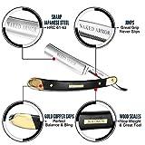 Black Straight Razor Blade - Shave Ready Vintage