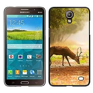 Caucho caso de Shell duro de la cubierta de accesorios de protección BY RAYDREAMMM - Samsung Galaxy Mega 2 - Comer ciervos