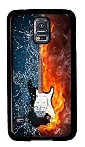 Rugged Samsung Galaxy S5 Case and Cover - Creative Guitar Custom Design PC Case Cover for Samsung Galaxy S5 - Black