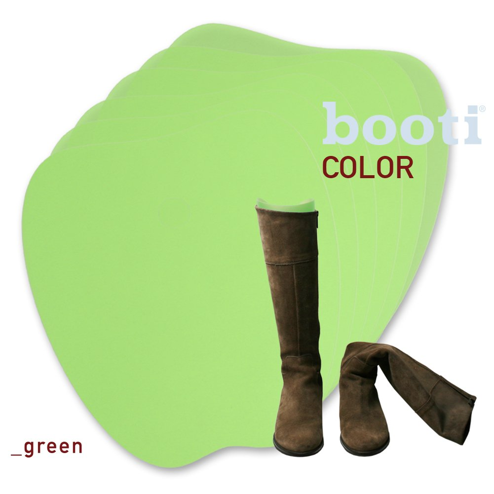 booti boot shaper COLOR - green for 4 pairs of boots