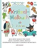 Kritzel-Malbuch ab 2 Jahre Mein erstes Malbuch für Kinder Malen, Zeichnen lernen, Kritzeln Kindergarten Kritzelbuch Kinderbuch Mitmachbuch