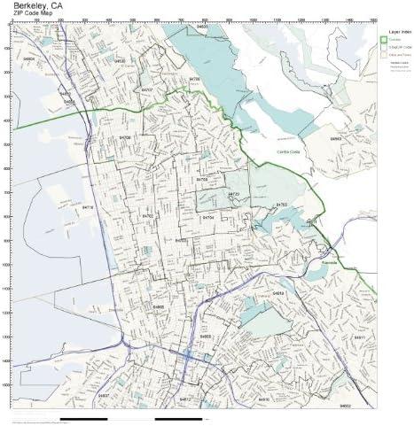 Berkeley Zip Code Map Amazon.com: Working Maps Zip Code Wall Map of Berkeley, CA Zip