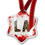 Christmas Ornament LA Cheetah Cat Animal Print, red - Neonblond