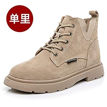 Shukun Botines Martin Boots Botas de Moto de Tubo Corto Femenino Zapatos de los niños Botas Cortas de la Personalidad de Las Mujeres de Primavera y otoño: ...