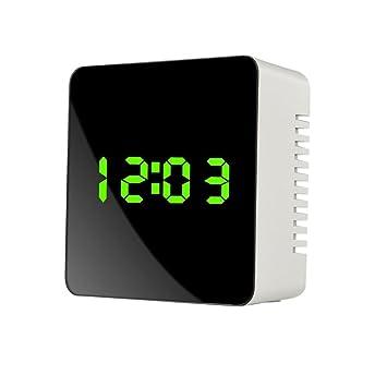 Reloj de Mesa Digital con Espejo y LED, 24 o 12 Horas: Amazon.es: Electrónica
