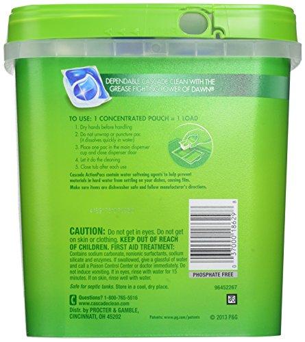 Cascade ActionPacs Dishwasher Detergent Fresh Scent 85 Count