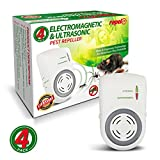 Repel-It Ultrasonic Pest Repellent - Ultrasonic & Electro-Magnetic Technology For Maximum Protection From Mice, Cockroaches, Spiders Ants & More (4 Pack For Full-House Coverage)