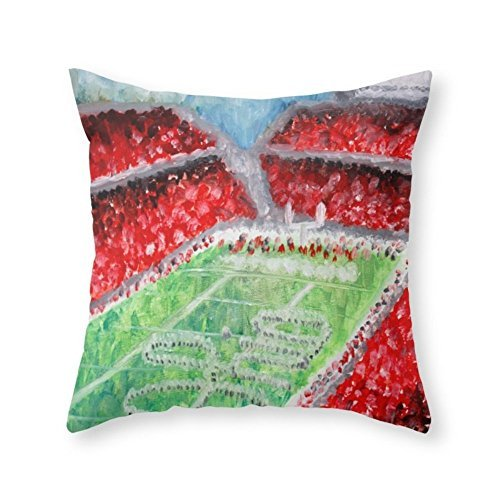 Home Decorative Cushion Cover Ohio State Buckeyes Throw Pillow Living Room Sofa Bed Square Cover (20