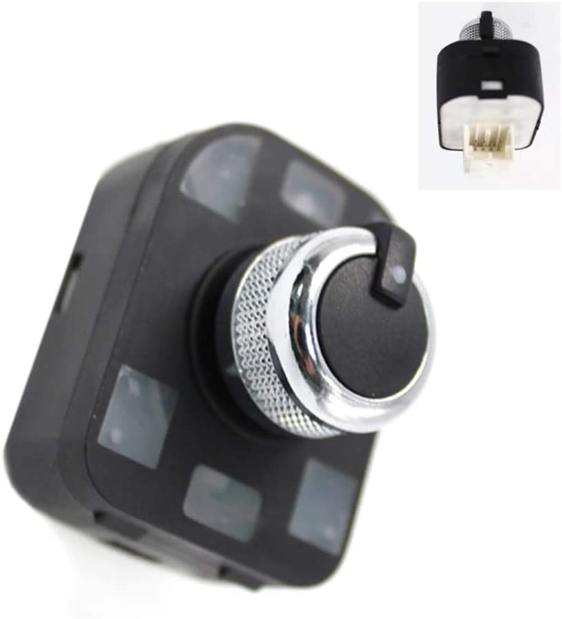 DONGMAO Interruptor del Espejo Lateral Perilla de Ajuste del Espejo retrovisor del Coche sin Reborde para Audi A4 S4 B6 A6 Quattro Q7 R8 TT RS4 2001-2012 4F0959565 4F0 959 565