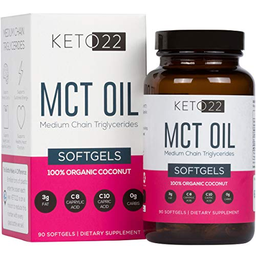 Keto 22 Organic MCT Oil Capsules – Premium Keto Diet Pills – 90ct 1 Month Supply – Perfect On-The-Go Keto Pills – Caprylic Acid (c8) / Capric Acid (c10) Keto Supplement – Earth Friendly Glass Bottle Review