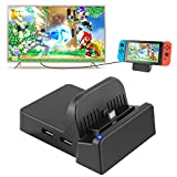 Switch TV Dock, Portable Mini Switch Docking Station Replacement for Nintendo Switch Dock, Compact Switch to HDMI Adapter with Extra USB 3.0 Port, Replacement Charging Stand Dock for Nintendo Switch: more info