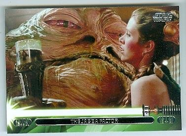 Slave Princess Leia with Jabba the Hutt trading card Star Wars Jedi Legacy 2013 Topps #34L Carrie (Jabba The Hutt Princess Leia)