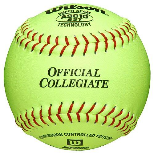 Wilson A9010 Collegiate Series Softball (12-Pack), 12-Inch, Optic Yellow by Wilson