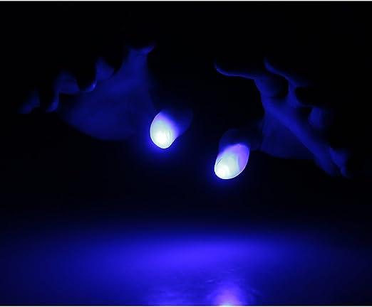 Goolsky LED Dedo L/ámpara Pulgares Luz M/ágica Luz arriba Dedo Magia Truco Dedo falso