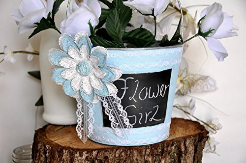 flower-girl-basket-shabby-chic-galvanized-metal-pale-flower-and-lace-color-choice