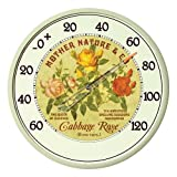 AcuRite 01836 12.5-Inch Wall Thermometer, Cabbage Rose