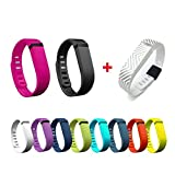 I-SMILE Colorful Replacement Bands with Metal Clasps for Fitbit Flex / Wire ....