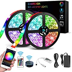 CHAREADA Upgraded Waterproof IP65 LED Strip Lights, 300 RGB LEDS 32.8ft with 24key IR Remote ControllerIt either gives you a cosy ambience to change your mood and make you relaxed, or gives you a cheerful ambience to enhance your entertainmen...