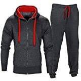 Mens Coat Sweatpants Set! Charberry Men Stretchy Trousers Hooded Coat Jacket Pants Jogging Sports Tracksuit Set (US-M/CN-L, Deep Gray)