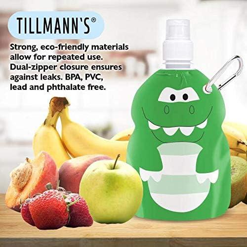 Bolsas reutilizables para alimentos para beb/és de TILLMANN 300 ml bolsas para batidos con fondo sellado 6 unidades bolsas reutilizables para alimentos